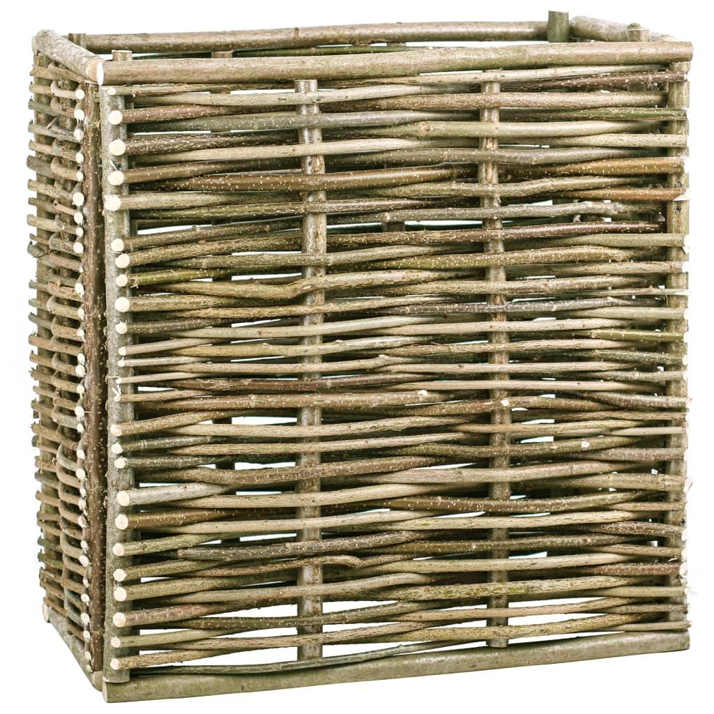 vidaXL Vyvýšený zahradní truhlík 80 x 40 x 80 cm lískové dřevo