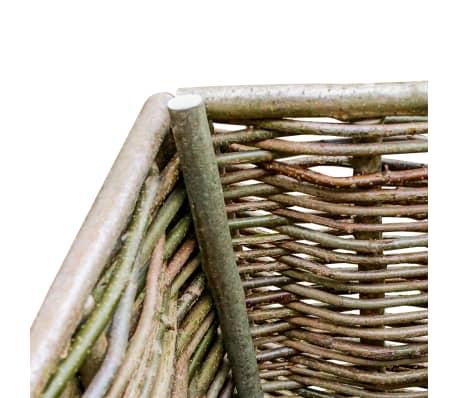 vidaXL Vyvýšený záhradný kvetináč 80x40x80 cm lieskové drevo[3/4]