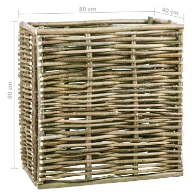 vidaXL Vyvýšený záhradný kvetináč 80x40x80 cm lieskové drevo[4/4]
