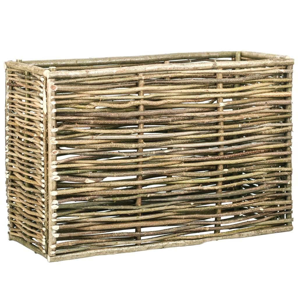 vidaXL Strat înălțat de grădină, 120 x 40 x 80 cm, lemn de alun poza vidaxl.ro
