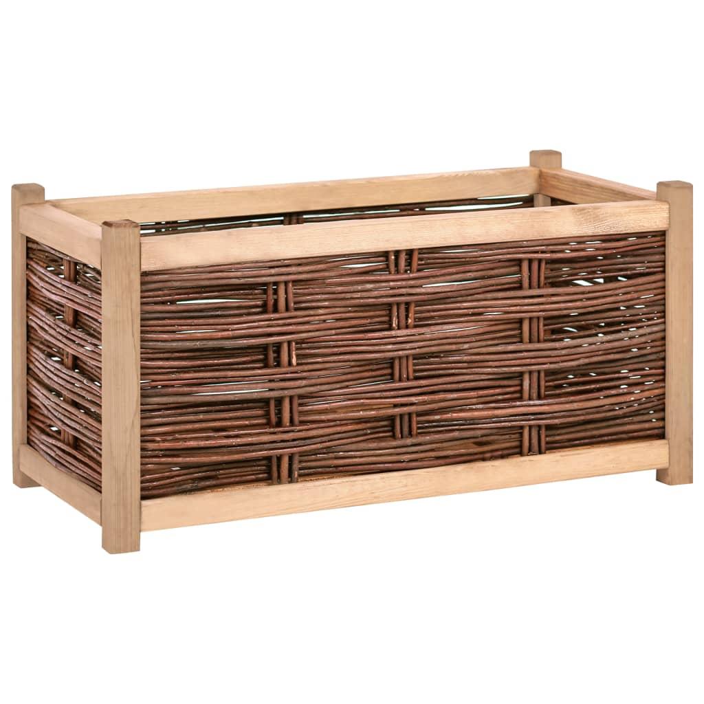 vidaXL Strat înălțat de grădină, 80 x 40 x 40 cm, lemn masiv de pin poza vidaxl.ro