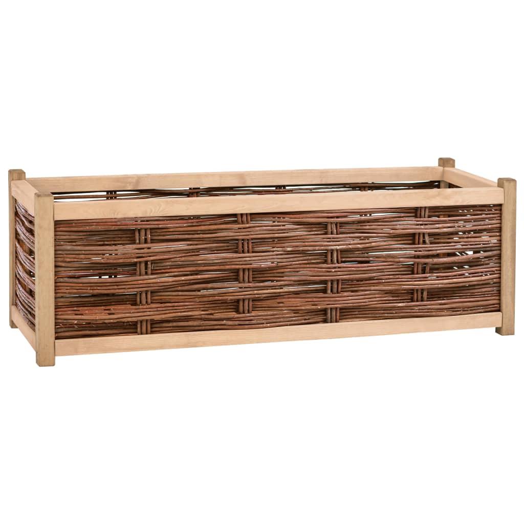 vidaXL Strat înălțat de grădină, 120 x 40 x 40 cm, lemn masiv de pin poza 2021 vidaXL