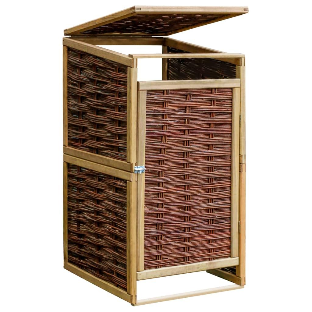 vidaXL Containerberging enkel grenenhout en riet