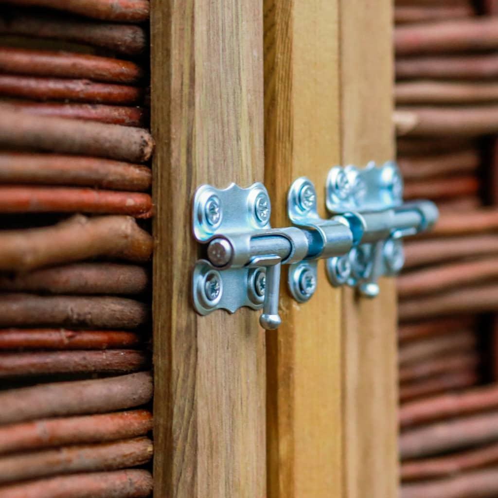 Box Per Bidoni Spazzatura copri bidone dei rifiuti doppio in legno di pino e vimini