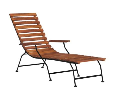 vidaXL Scaun de exterior pentru terasă, lemn masiv de acacia