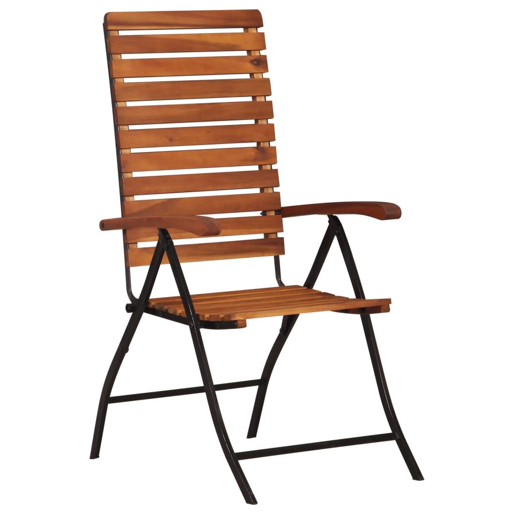 vidaXL Rozkładane krzesła ogrodowe, 2 szt., lite drewno akacjowe