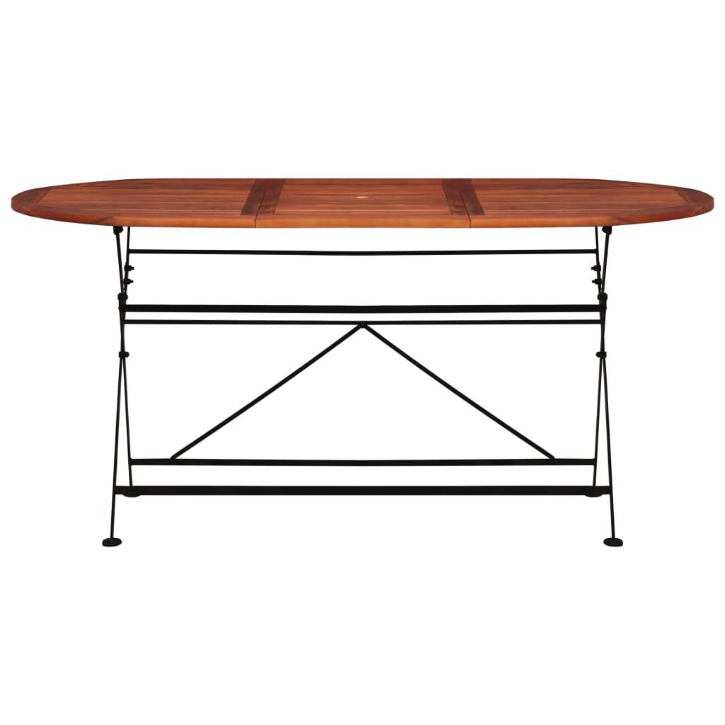 vidaXL Tuintafel ovaal 160x85x74 cm massief acaciahout
