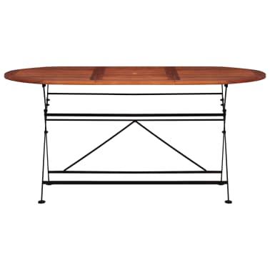 vidaXL Tuintafel ovaal 160x85x74 cm massief acaciahout[2/6]