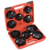 vidaXL 11 pcs conjunto ferramentas remoção filtro de óleo estilo copo