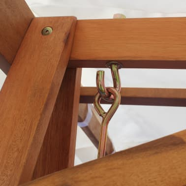 vidaXL Garden Swing Chair with Canopy Eucalyptus Acacia Wood[4/5]