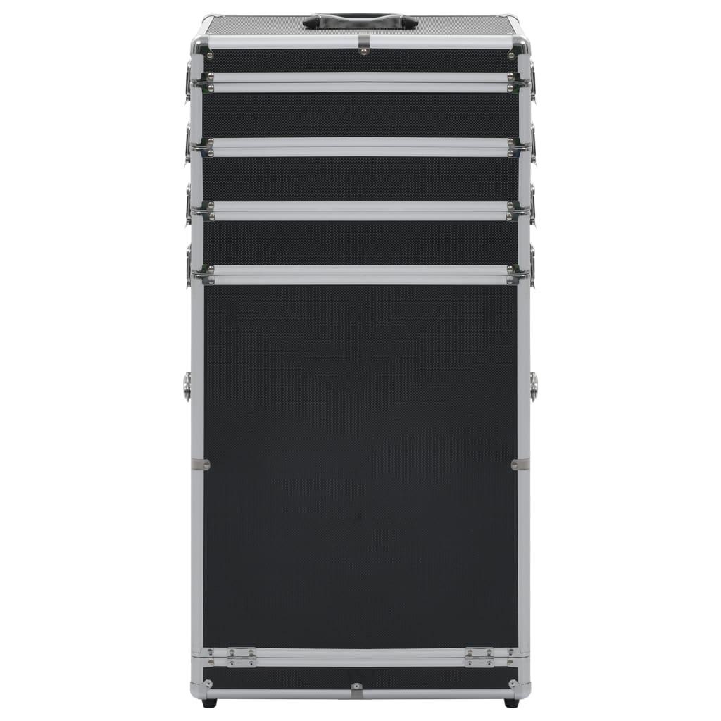 99991812 Kosmetikkoffer Aluminium Schwarz