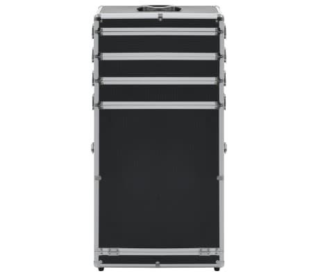 vidaXL Chariot de maquillage Aluminium Noir[2/8]