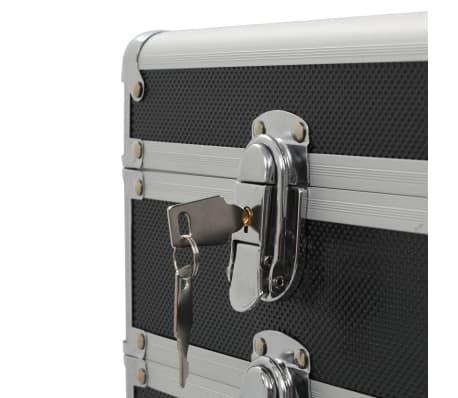 vidaXL Chariot de maquillage Aluminium Noir[7/8]