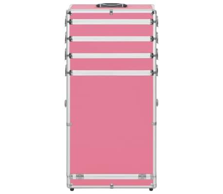 vidaXL Kosmetikkoffer Aluminium Rosa[2/9]