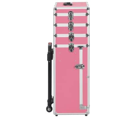 vidaXL Kosmetikkoffer Aluminium Rosa[3/9]