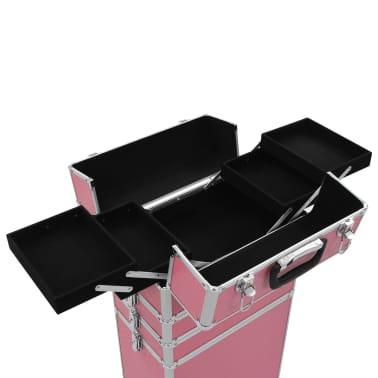 vidaXL Chariot de maquillage Aluminium Rose[7/10]