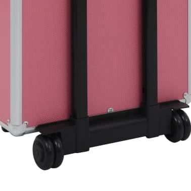 vidaXL Chariot de maquillage Aluminium Rose[10/10]