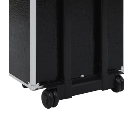 vidaXL Valigia Trolley per Cosmetici Alluminio Nero Design Coccodrillo[10/10]