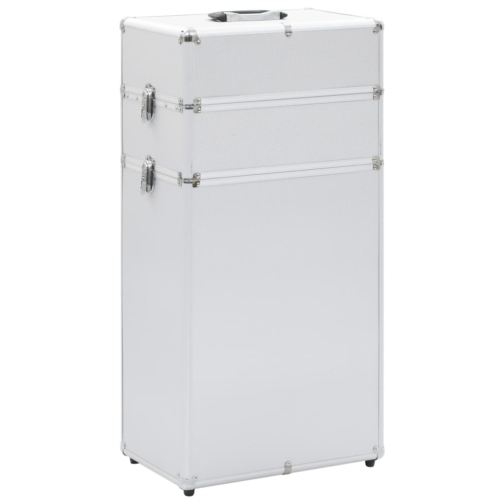 vidaXL Make-up trolley aluminium zilverkleurig