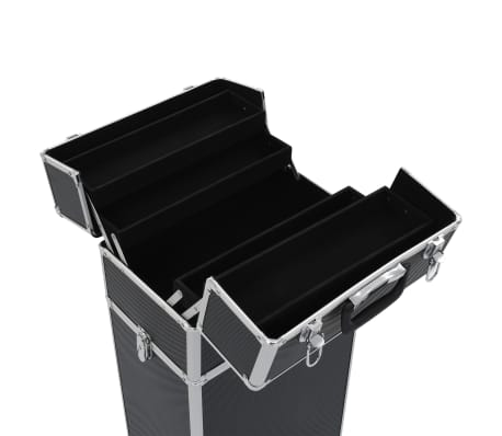 vidaXL Kosmetikkoffer Aluminium Schwarz[7/10]