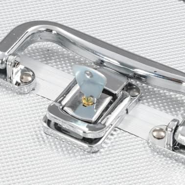 vidaXL Kosmetinis lagaminas, sidabrinės spalvos, 22x30x21cm, aliuminis[6/6]
