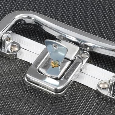 vidaXL Kosmetinis lagaminas, juodos spalvos, 22x30x21 cm, aliuminis[6/6]