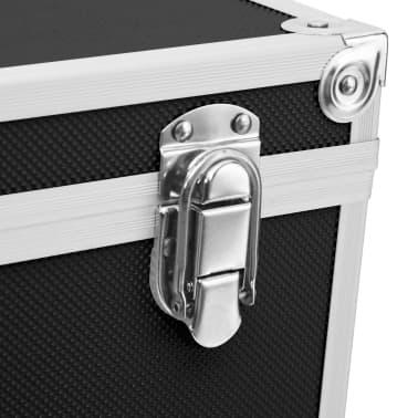 vidaXL Kuferek na kosmetyki, 37 x 24 x 40 cm, czarny, aluminiowy[8/8]