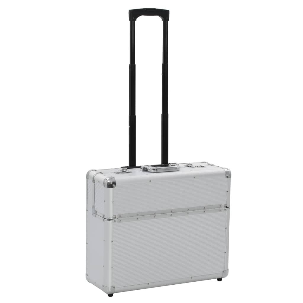 vidaXL Troler de pilot, 54 x 44 x 21 cm, argintiu, aluminiu imagine vidaxl.ro