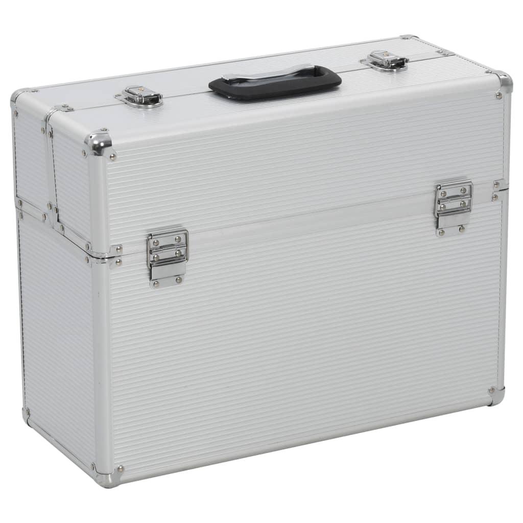 vidaXL Kufr na nářadí 47 x 36 x 20 cm stříbrný hliník