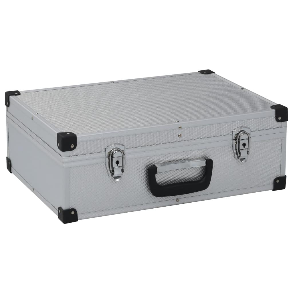 vidaXL Werkzeugkoffer 46x33x16cm Alu Transportkoffer Werkzeugkasten Alukoffer