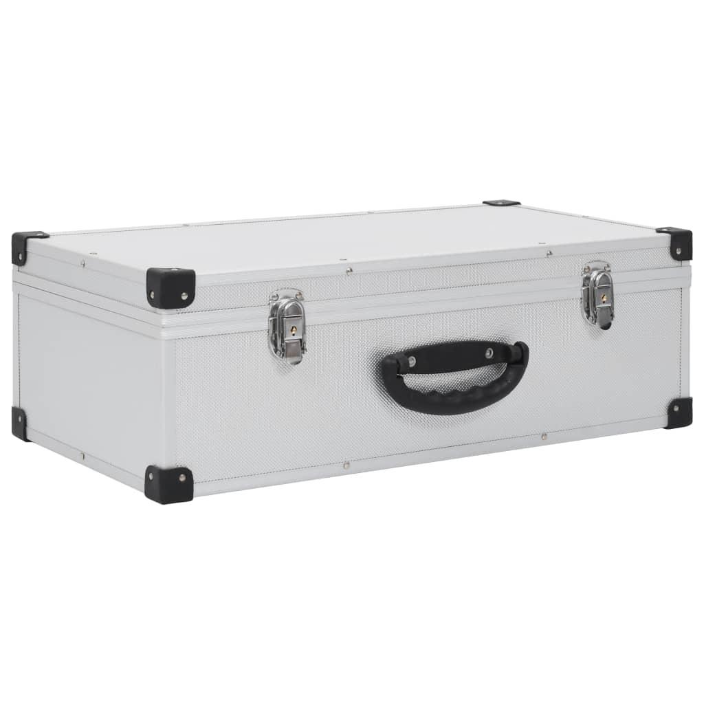Afbeelding van vidaXL Cd-koffer voor 80 cd's aluminium ABS zilverkleurig