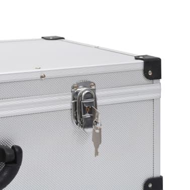vidaXL Kompaktinių diskų dėklas 80 diskų, sidbr. sp., aliuminis, ABS[8/8]