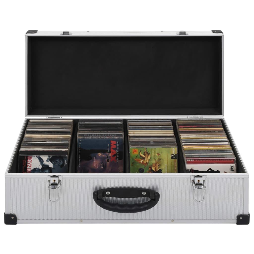 Kufr na CD na 80 CD hliník ABS stříbrný