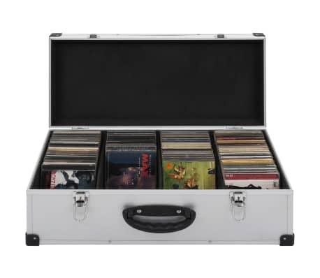 vidaXL Kompaktinių diskų dėklas 80 diskų, sidbr. sp., aliuminis, ABS[1/8]