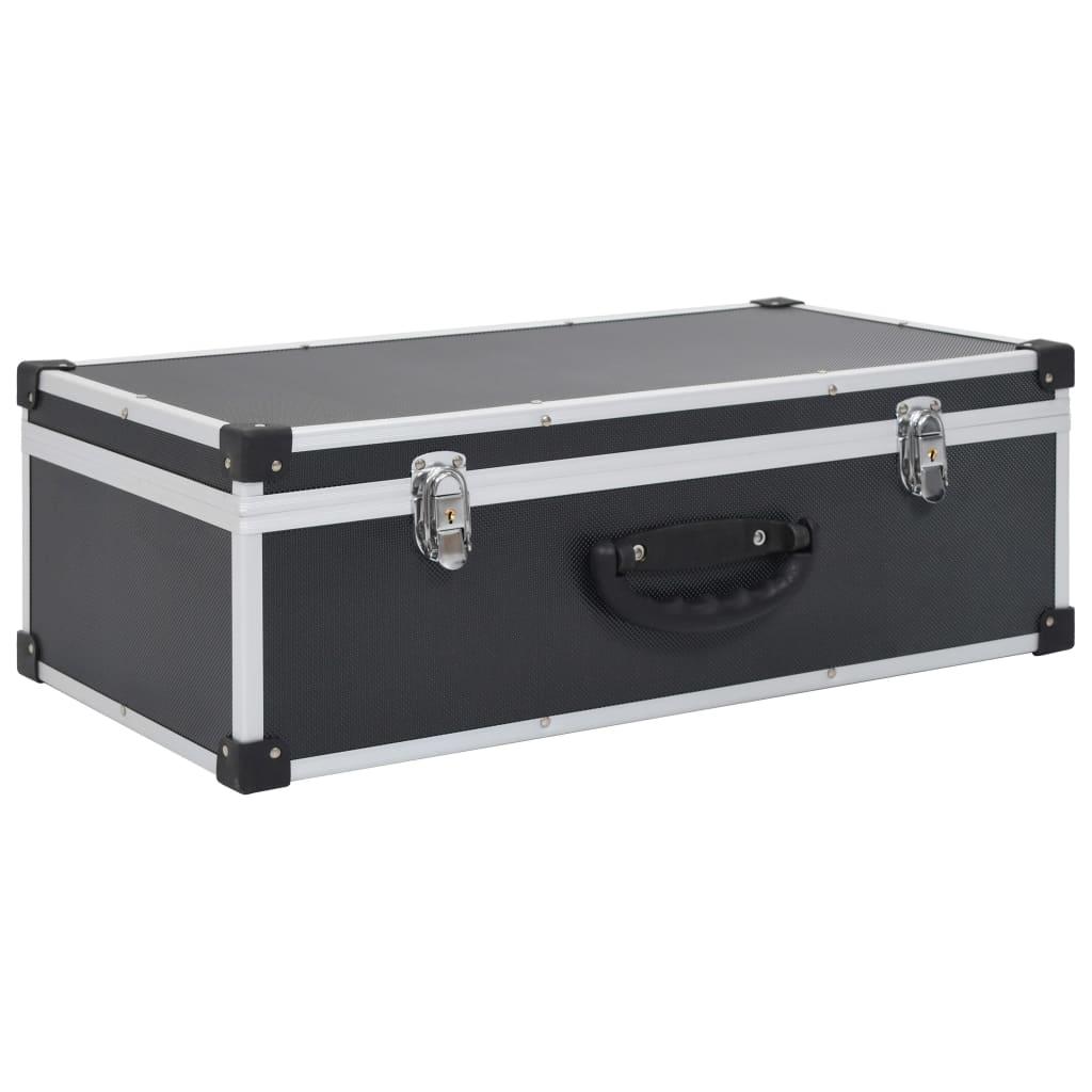 Afbeelding van vidaXL Cd-koffer voor 80 cd's aluminium ABS zwart