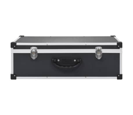 vidaXL Kompaktinių diskų dėklas 80 diskų, juod. sp., aliuminis, ABS[3/8]