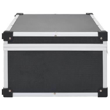 vidaXL Kompaktinių diskų dėklas 80 diskų, juod. sp., aliuminis, ABS[4/8]