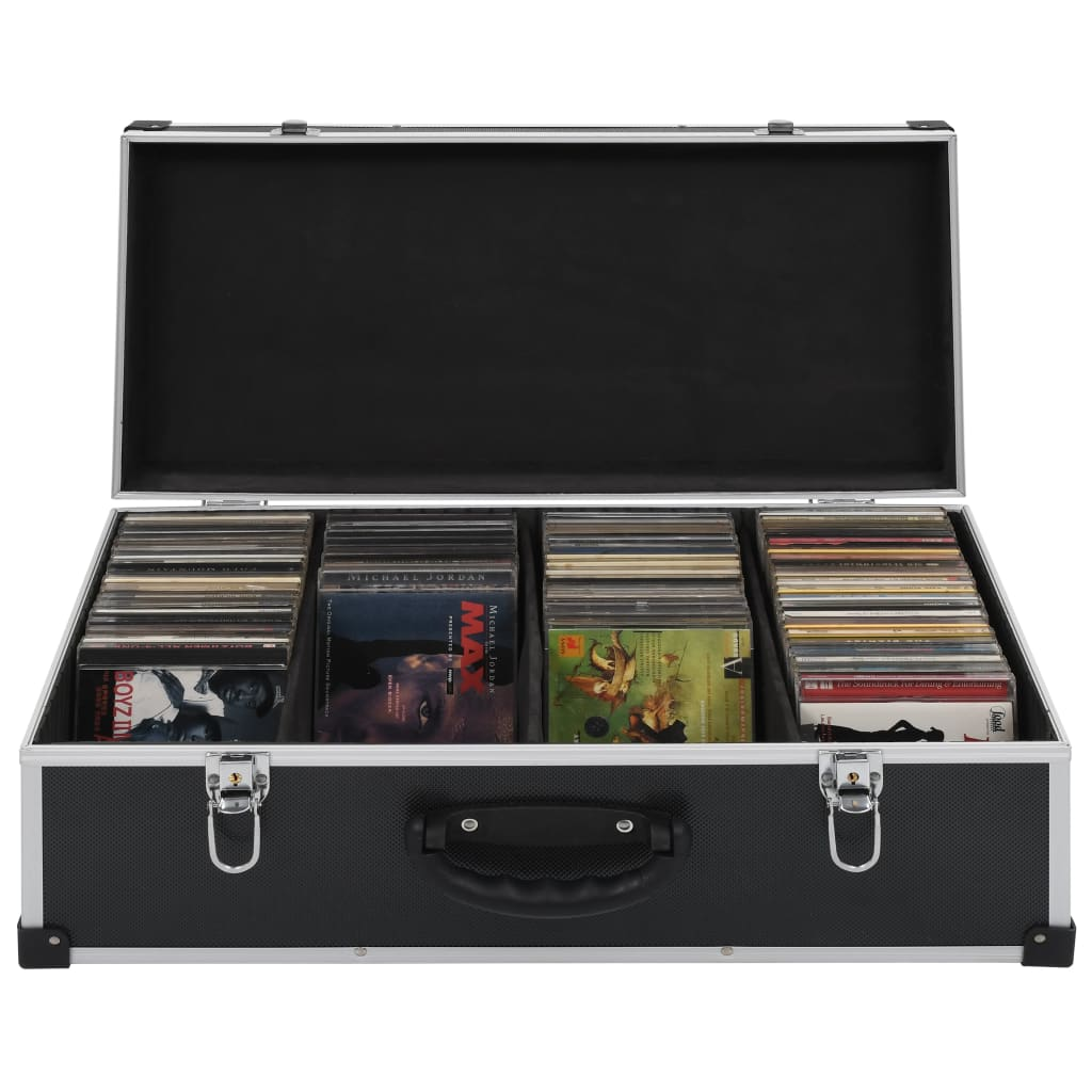 Kufr na CD na 80 CD hliník ABS černý