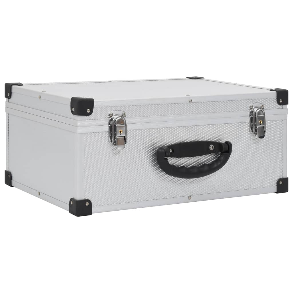 Afbeelding van vidaXL Cd-koffer voor 60 cd's aluminium ABS zilverkleurig