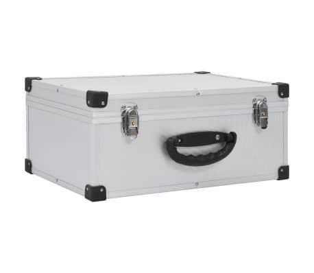 vidaXL CD-väska för 60 cd-skivor aluminium ABS silver
