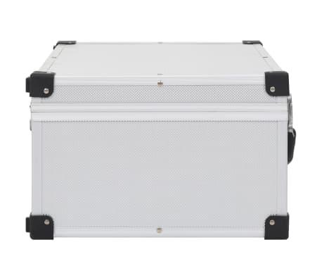 vidaXL Kompaktinių diskų dėklas 60 diskų, sidbr. sp., aliuminis, ABS[4/8]