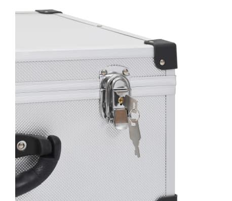 vidaXL Kompaktinių diskų dėklas 60 diskų, sidbr. sp., aliuminis, ABS[8/8]