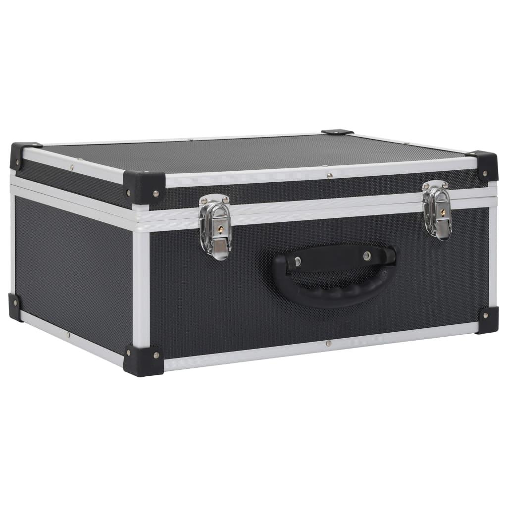 Afbeelding van vidaXL Cd-koffer voor 60 cd's aluminium ABS zwart