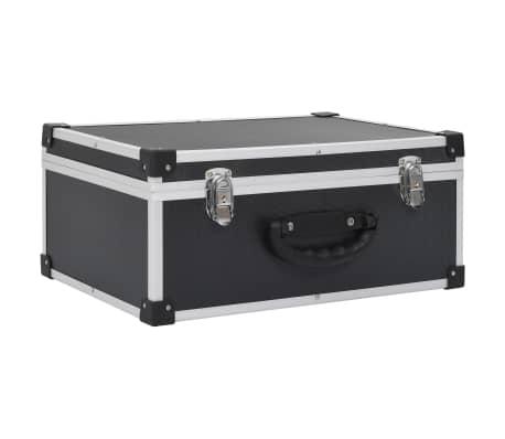vidaXL CD-väska för 60 cd-skivor aluminium ABS svart