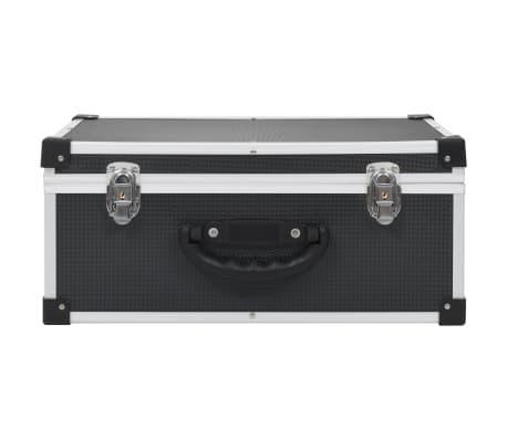 vidaXL Kompaktinių diskų dėklas 60 diskų, juod. sp., aliuminis, ABS[3/8]