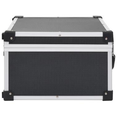 vidaXL Kompaktinių diskų dėklas 60 diskų, juod. sp., aliuminis, ABS[4/8]