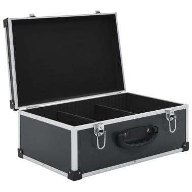 vidaXL Kompaktinių diskų dėklas 60 diskų, juod. sp., aliuminis, ABS[5/8]
