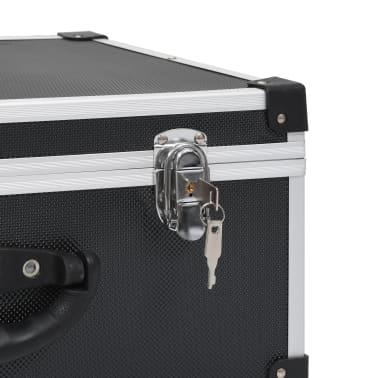 vidaXL Kompaktinių diskų dėklas 60 diskų, juod. sp., aliuminis, ABS[8/8]