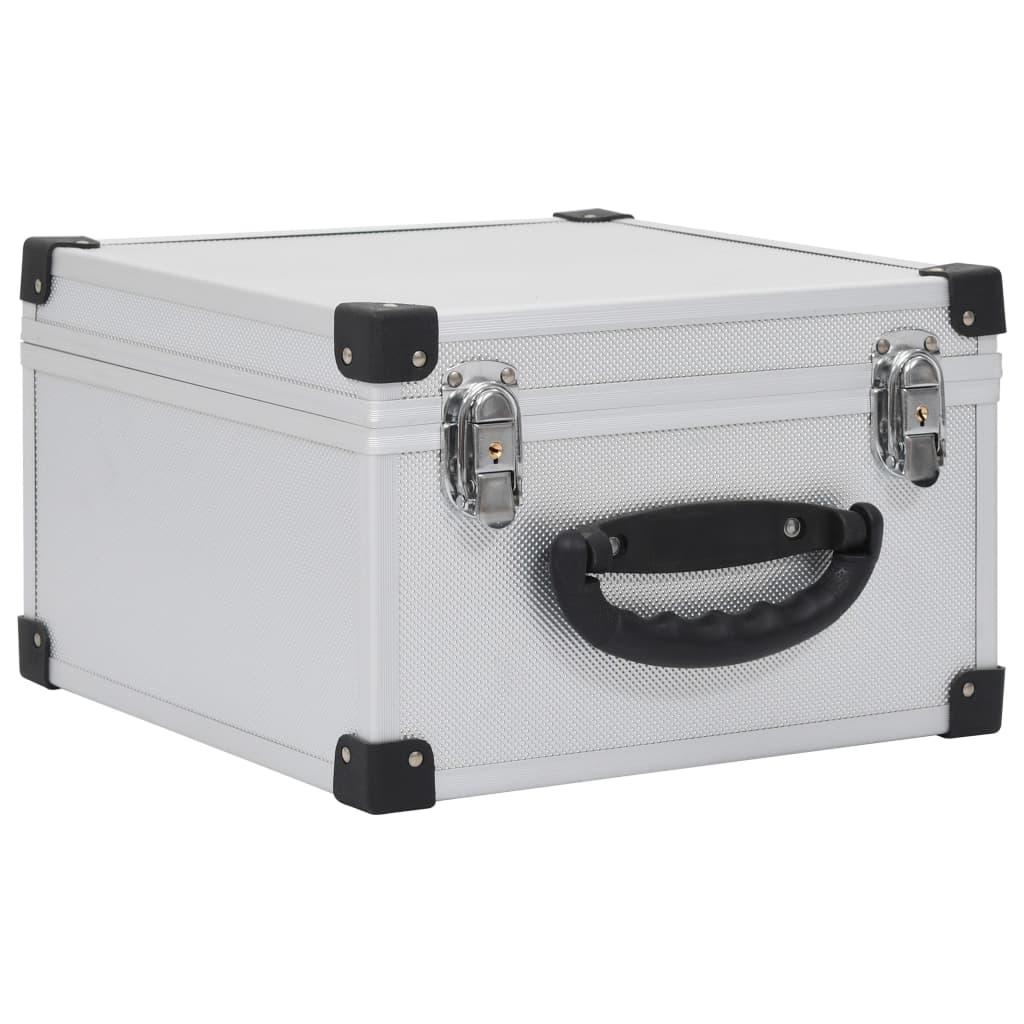 Afbeelding van vidaXL Cd-koffer voor 40 cd's aluminium ABS zilverkleurig