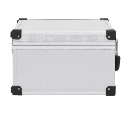 vidaXL Kompaktinių diskų dėklas 40 diskų, sidbr. sp., aliuminis, ABS[4/8]